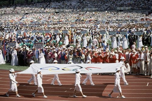 La cérémonie d'ouverture des Jeux Olympiques d'été de 1988 à Séoul