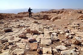 Les ruines d'Horkania, entre Jéricho et la Mer Morte