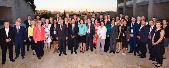 Le Ministre de l'éducation Naftali Bennett et ses homologues de l'OCDE