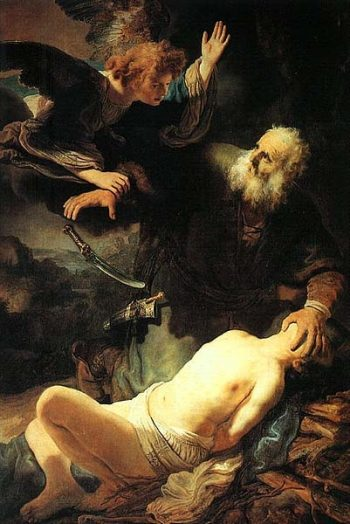 """The Sacrifice of Abraham"", tableau de Rembrandt de"