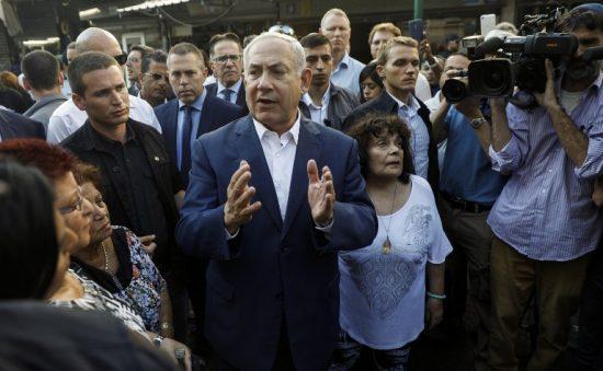 Benjamin Netanyahu en visite dans le sud de Tel Aviv jeudi