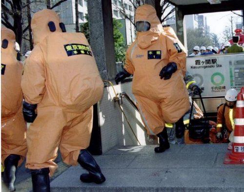 Attaque au sarin dans le métro de Tokyo le 20 Mars 1995