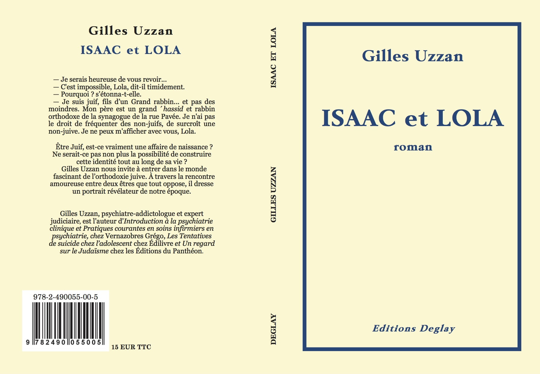 Isaac et Lola roman de Gilles Uzzan
