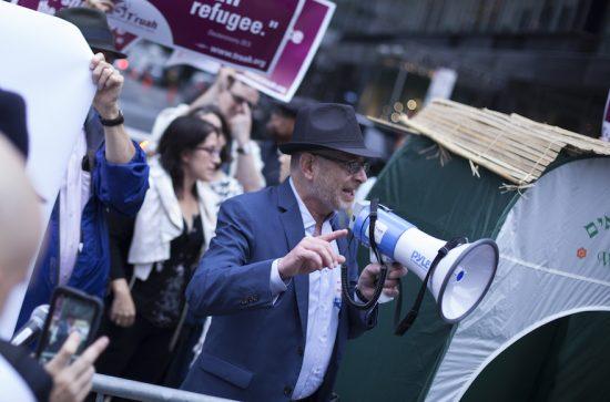 Les rabbins défilent pour les droits des immigrants devant la Trump Tower à New York, le 9 octobre 2017.