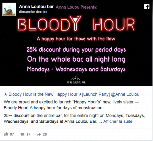 Bloody Hour au Anna Loulou Bar