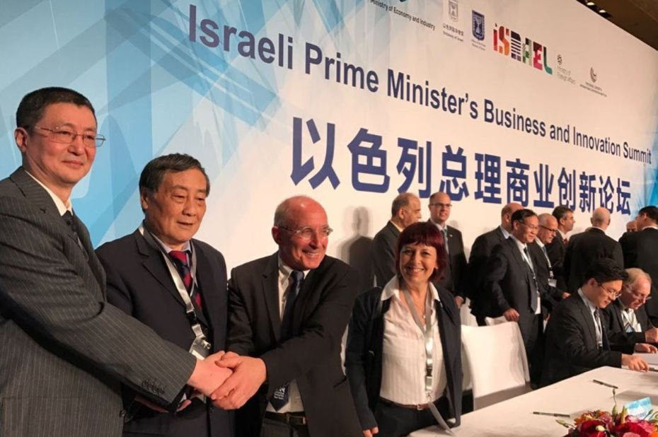 chine et israel investissements chinois
