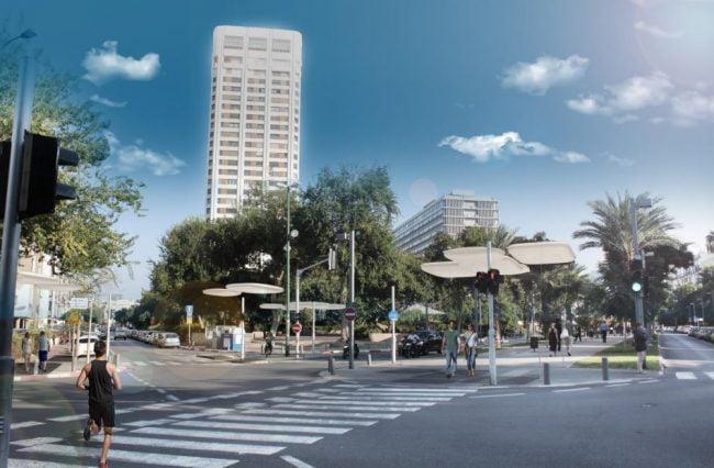 Des structures créatrices d'ombre innovantes pour rafraîchir les rues de Tel Aviv