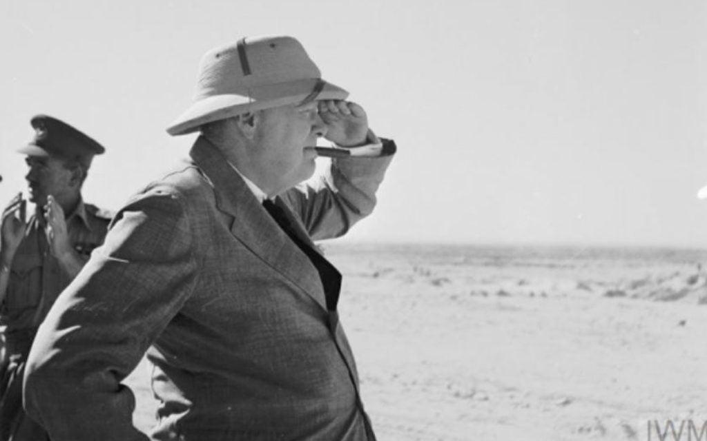 Winston Churchill en Palestine alors sous mandat britannique