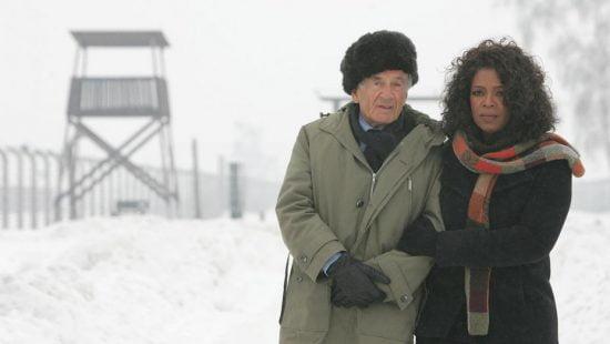 Elie Wiesel et Oprah Winfrey à Auschwitz