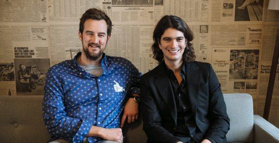 Miguel McKelvey et Adam Neumann, fondateurs de WeWork