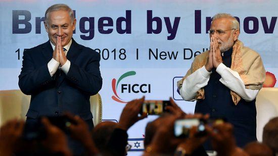 Contacts entre les deux pays pour le survol de l'Arabie Saoudite. Netanyahu et Modi