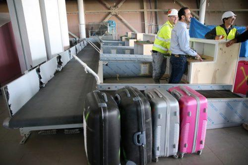 Les comptoirs d'enregistrement des bagages