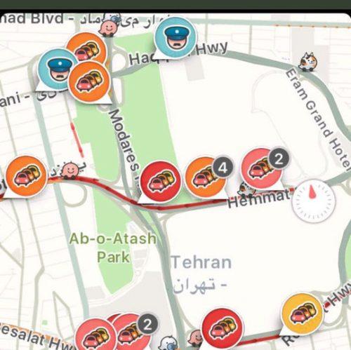 Waze en Iran