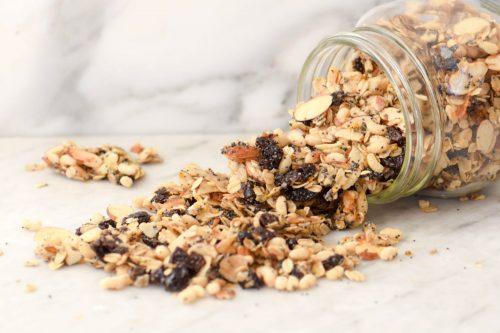 Du granola aux graines de pavot