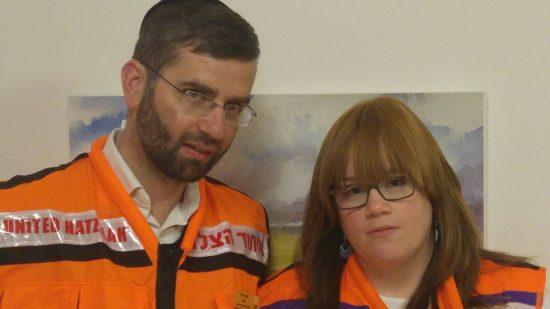 Pnina et Yossi Dvir, volontaires pour United Hatzalah à Beitar Illit.