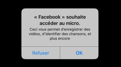 facebook accede à votre micro pour mieux vous entendre
