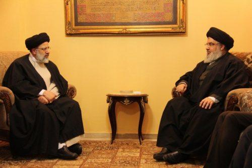 Le message: l'Iran n'est pas dissuadé par les menaces israéliennes. Raisi lors de sa visite au Liban Photo: Gracieuseté du Centre de Jérusalem