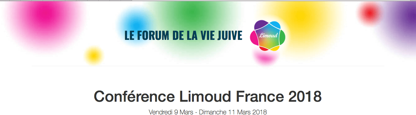 Conférence Limoud Facebook et israel dimanche 11 mars
