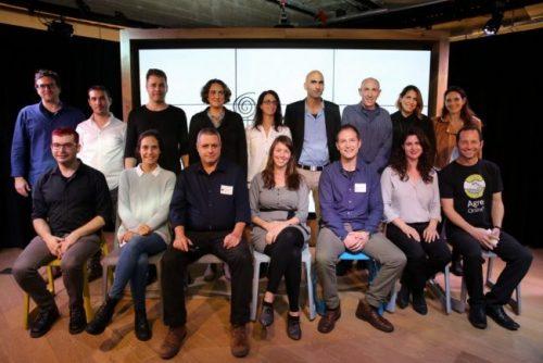 Les membres des sept startups dans l'accélérateur MindCET Demo Day, 27 février 2018. Courtoisie