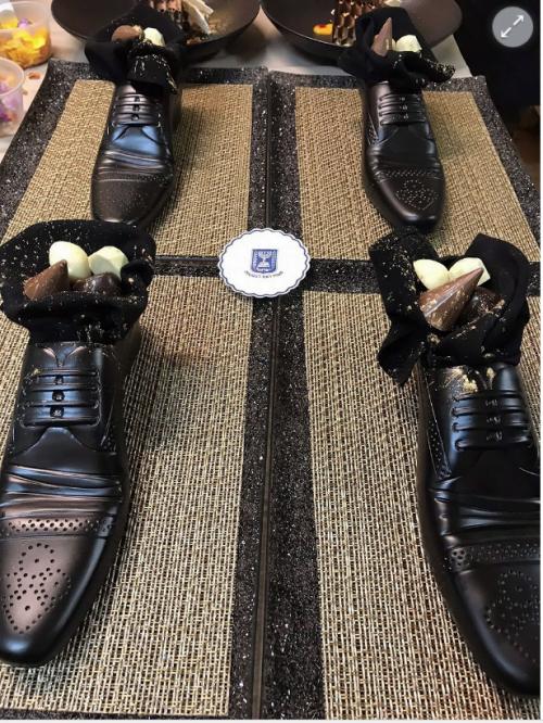 Des pralines dans une chaussure