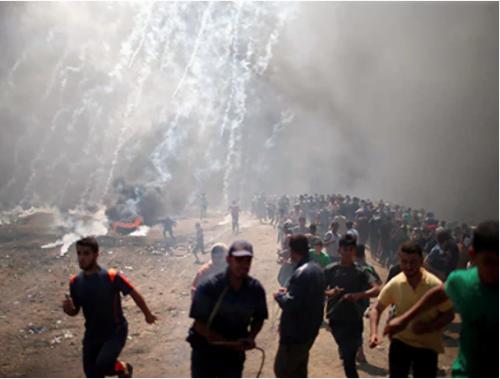 La bande de Gaza, hier