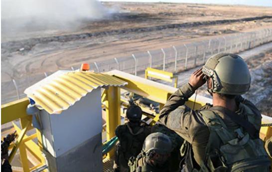 Forces de Tsahal à la frontière de Gaza Photo: Bureau du porte-parole de Tsahal