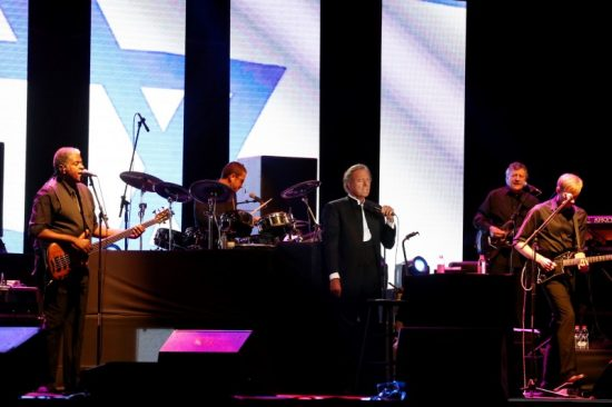 Julio Iglesias en concert en Israël en 2016