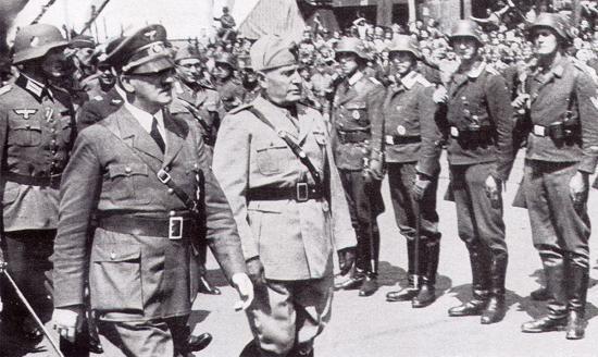 Hitler et Mussoilini Italie et L'Allemagne nazie