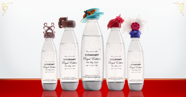 Les bouteilles Sodastream émises en l'honneur du mariage princier anglais