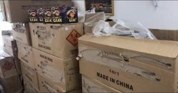 690 paquets contenant 20 700 feux d'artifices d'une valeur de 103 500 NIS