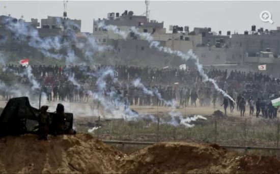 La frontière de la bande de Gaza, hier