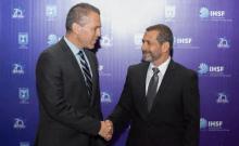 Le ministre de la Sécurité publique et des Affaires stratégiques, Gilad Erdan, et le directeur du Shin Bet, Nadav Argaman, à la Conférence internationale sur la lutte contre le terrorisme. (Crédit: MINISTÈRE DE LA SÉCURITÉ PUBLIQUE)