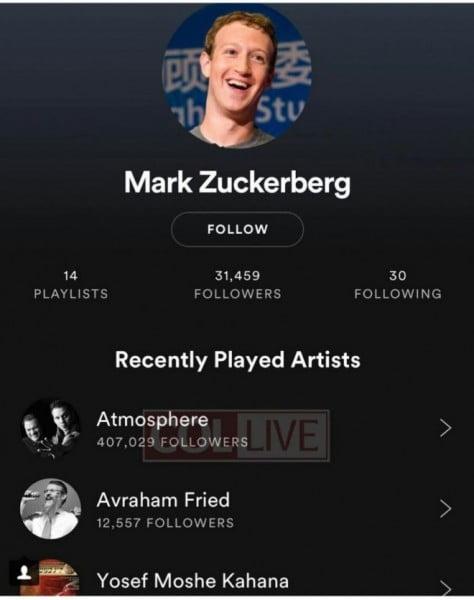 La playlist de Mark Zuckerberg
