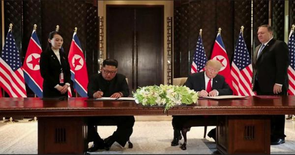 Les dirigeants signent un document «très important»