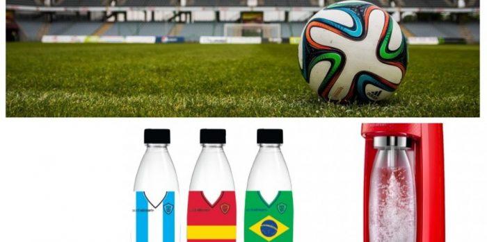 Israël: des bouteilles SodaStream habillées en footballeurs pour le Mondial