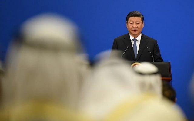 le président chinois Xi Jinping, à la 8e réunion ministérielle du Forum de coopération Chine-États arabes au Grand Hall à Pékin.