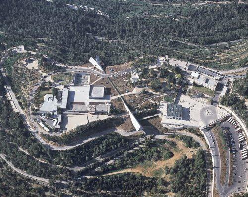 Vue aérienne du musée Yad Vashem à Jérusalem
