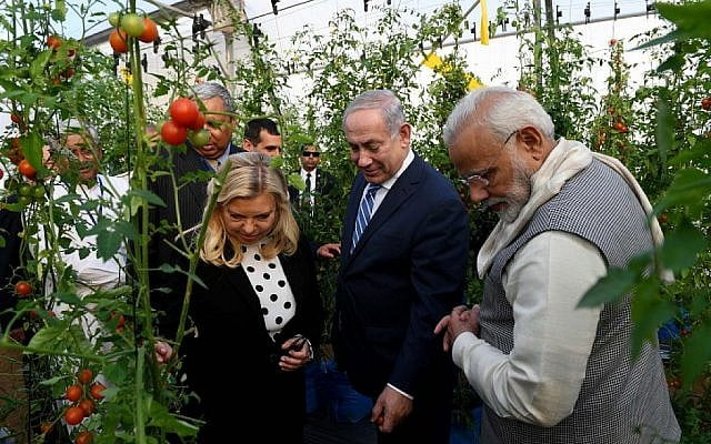 Benyamin Netanyahu, accompagné de sa femme Sarah, a visité l'Inde en début d'année.