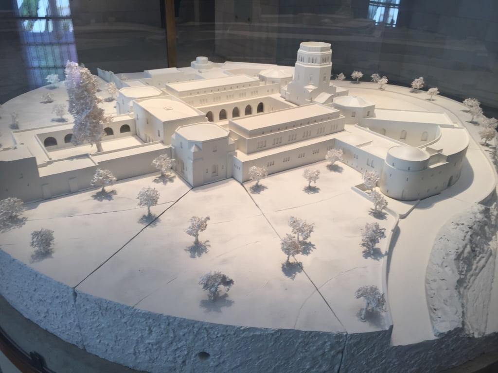 La maquette du musée Rockefeller.