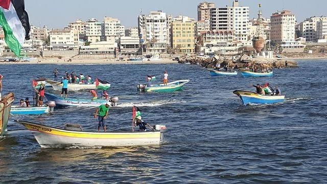 manifestation bateaux Bande de Gaza