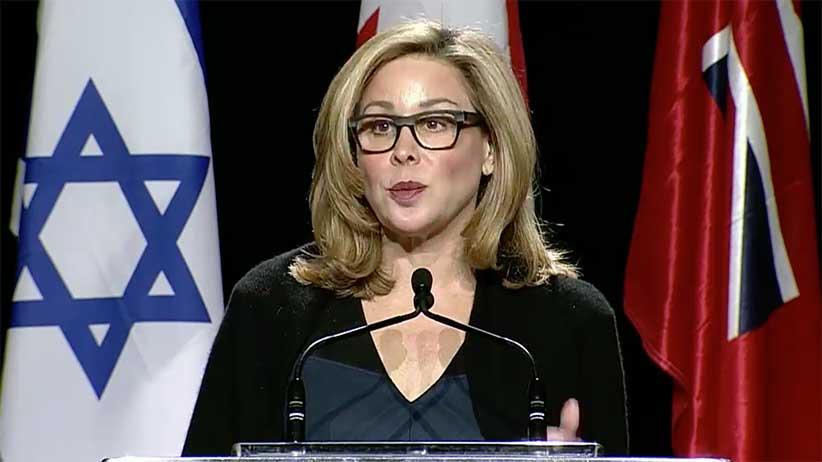 Linda Frum, femme canadienne journaliste et politique, a grandement salué la reconnaissance de Jérusalem capitale d'Israël.