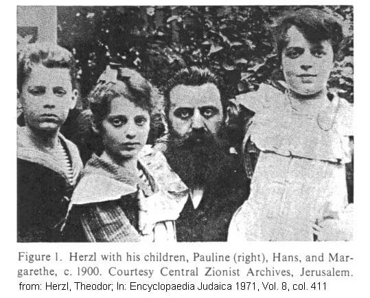Theodore Herzl et ses enfants