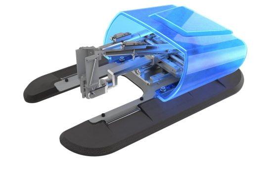 Le système de direction à aiguilles XACT Robotics. Photo via xactrobotics.com