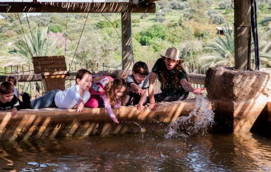 Plaisirs de l'eau à Neot Kedumim. Photo par Eldad Maastro