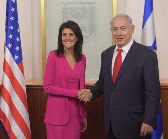 Netanyahu et Nikki Haley à Jérusalem