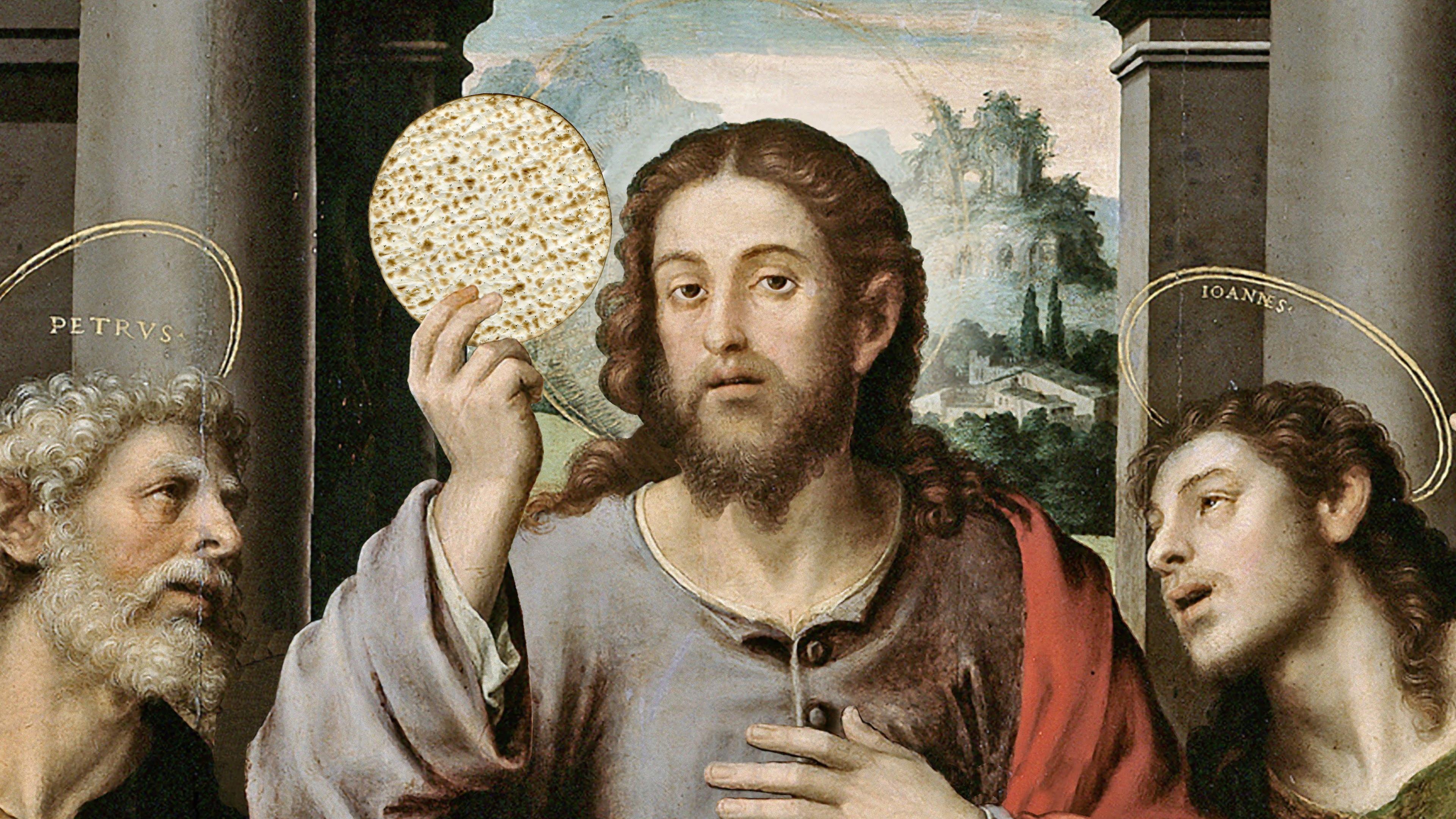 Jésus célébrant pessah avec la matsa