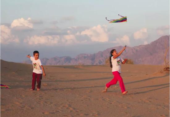 Jeudi après-midi est le moment idéal pour faire voler des cerfs-volants dans les dunes de sable. (crédit photo: HAIM YAFIM)