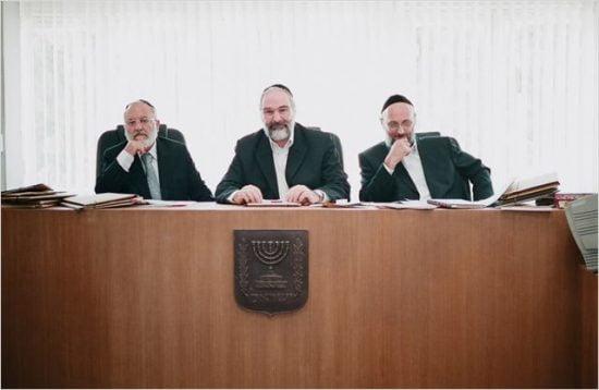 Un tribunal rabbinique composé de 3 rabbins