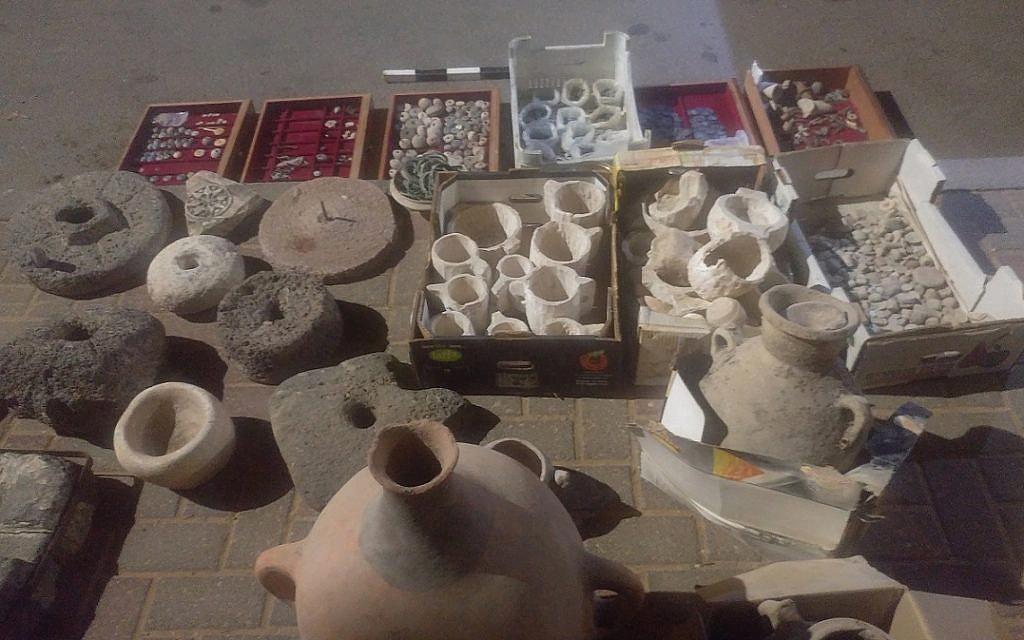 Les artefacts volés et récupérés par Israël