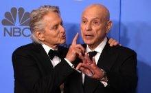 Pere et fils Douglas au Golden Globes 2018